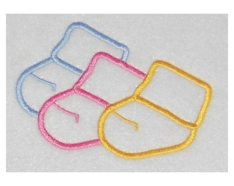 Instant Download Baby Socks Embroidery Machine Applique Design-919