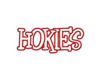 Instant Download Hokies Embroidery Machine Applique Design-993