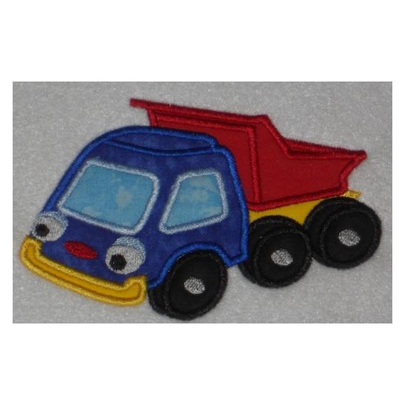 Instant Download Toy Dump Truck Embroidery Machine Applique Design-941