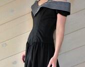 Vintage Black Evening Dress by House of Bianchi (Size M - L)