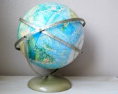 RESERVED - RARE Rand McNally Globe with Full Mount - 1977