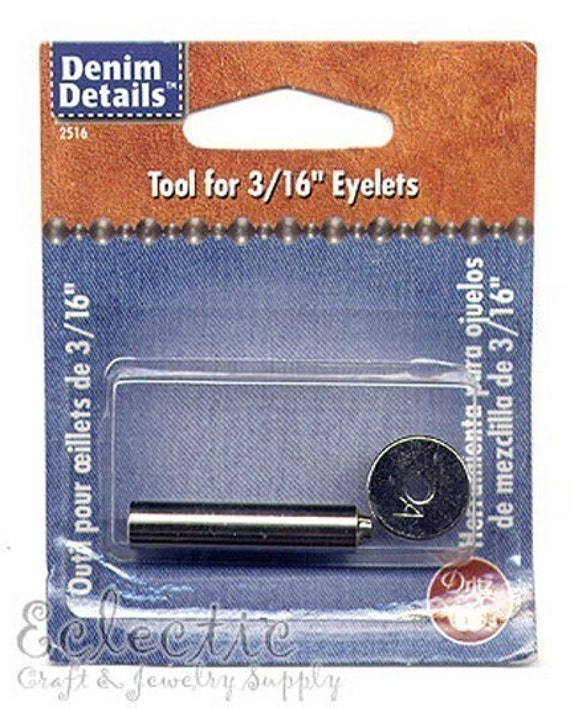 1 Dritz 2-PART EYELET SETTER 2516 Grommet Setting Tool 4.8mm 3/16 in.