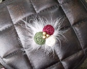 lil miss YULETIDE TRADITION couture hairpiece fascinator