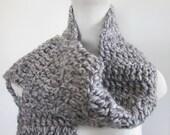 gray scarf wool acrylic unisex