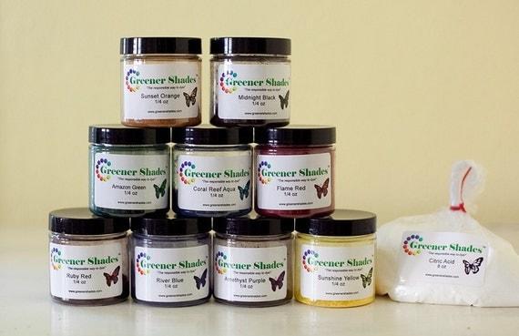 Dye kit, Greener Shades Dyes Starter Kit