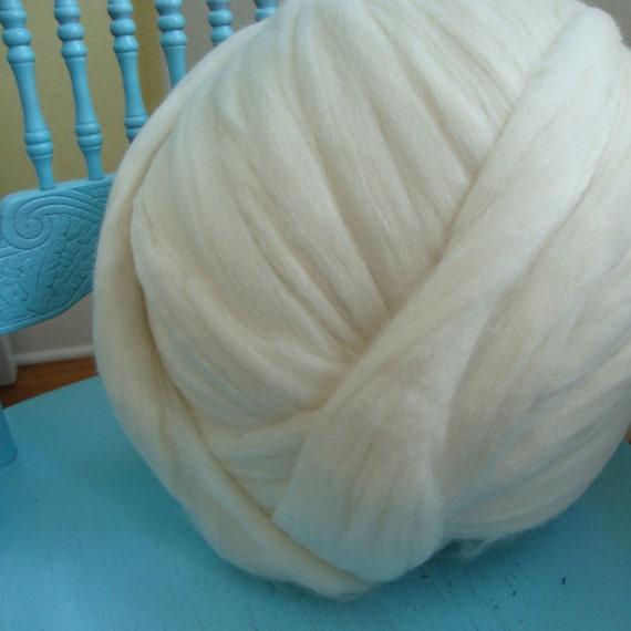 Falkland wool, one pound undyed wool roving