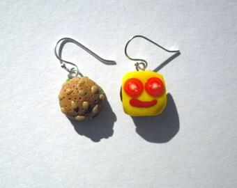 Smiling Hamburger Earrings
