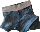 Maternity Jeans conversions, SEMI DEMI BAND, send your own jeans,  maternity shorts skirts slacks uniforms, underbelly band