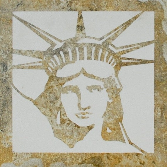 SALE 6x6 Etched Porcelain Statue of Liberty Tile