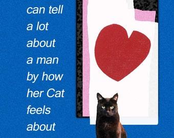 Black Cat Art, Gifts for Her, Wall Art Prints, Cat Lover Gifts, Black Cat, Wall Decor, Deborah Julian