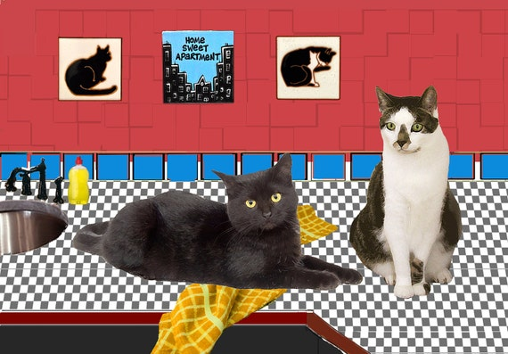 Cat Card, Home Sweet Apartment, Cat Lover, Cat Lady, New Apartment, Our First Apartment, New Address Announcement, Deborah Julian