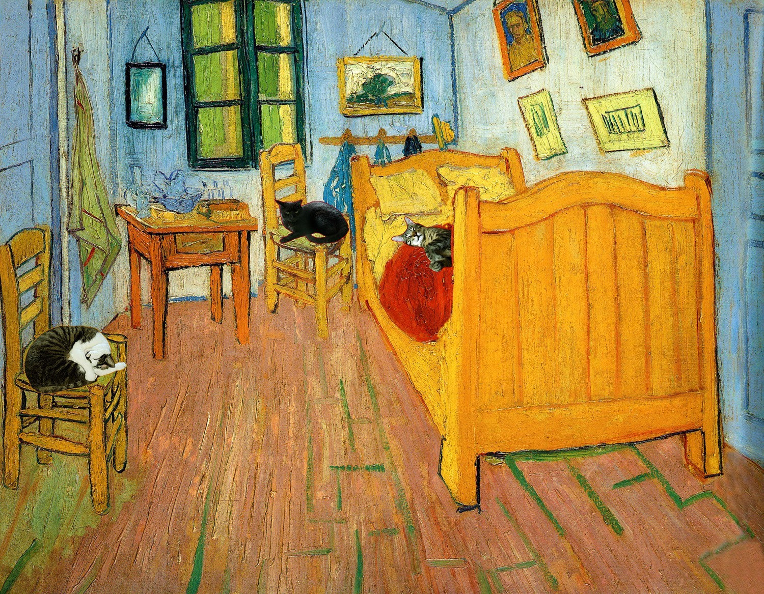 Vincent Van Gogh Cat Art Print Gifts For Friends By