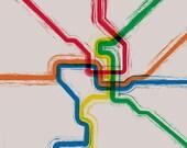 Washington DC Metro Cafe Mount - 12x12