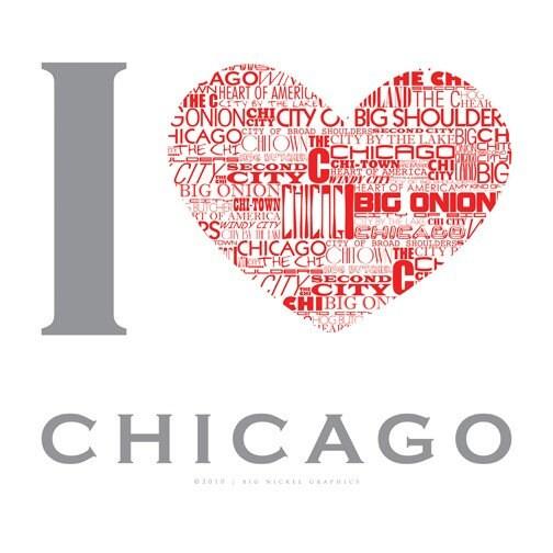 i love chicago nickname poster 20x20. Black Bedroom Furniture Sets. Home Design Ideas
