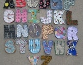 Reserved Listing for Aimeembryan - Fabric Alphabet Rag Quilt Letters