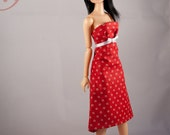 SDB - Red Dress with polka dots for Momoko