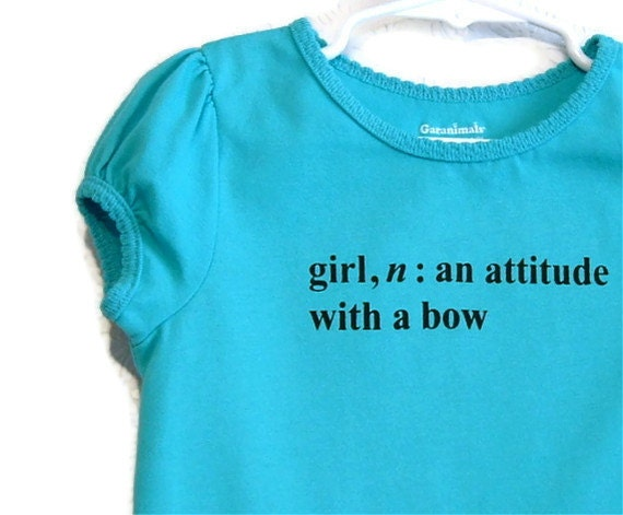 Turquoise Blue Girl Definition T-shirt
