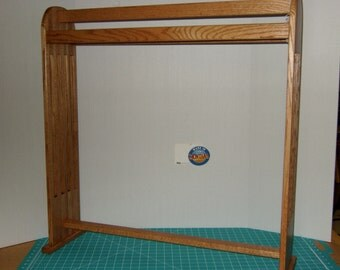 Oak misson style quilt rack