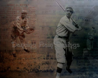 Baseball 8x10 Collage Fine Art print