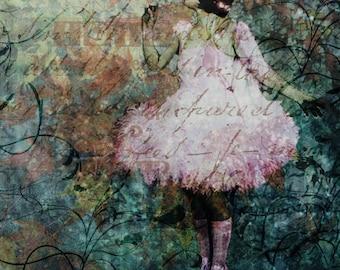 Ballerina Fine Art Print 8X8