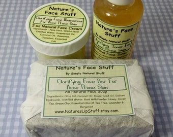 Clarifying Facial Care Kit For Acne Prone Skin