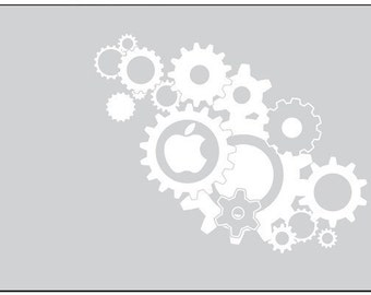 Vinyl Gears Sticker for Macbook, Laptop, Etc.