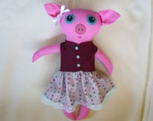 Maude the Big Eyed Pig Doll