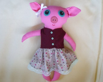 Maude the Big Eyed Pig Doll