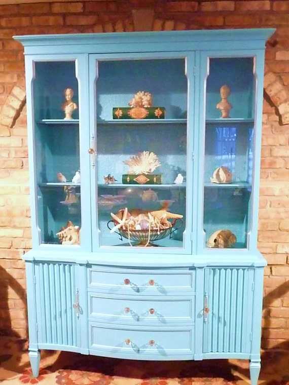 Vintage Turquoise Cabinet By Lavanttehome On Etsy