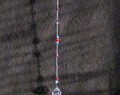 Turquoise and Red Coral Crystal Suncatcher