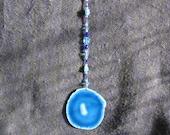 Blue Agate Suncatcher