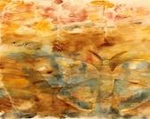 watercolor painting brown moth, original abstract watercolor fine art