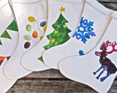Custom personalized Christmas Stockings- you choose a design and color