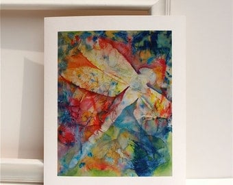 Dragonfly Watercolor painting- colorful fine art giclee print of original by Heather Brockman Lee
