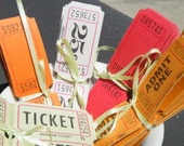 Assortment of Vintage Carnival Tickets, TREASURY ITEM, 50% off this item, enter LOVE99 at checkout