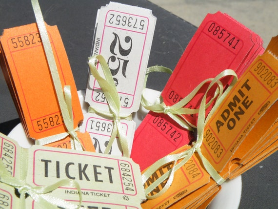 Assortment of Vintage Carnival Tickets