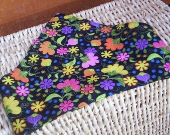 Colorful Flowers On Childs Head Scarf