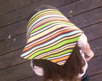 Colorful Stripes On Girls Head Scarf