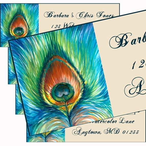Peacock Feather Watercolor Peacock Feather Watercolor
