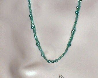 braided teal necklace