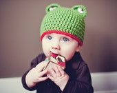 Crochet PATTERN - Frog Hat - Instant download