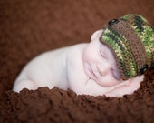 Crochet PATTERN - Army Brim Hat - Instant Download