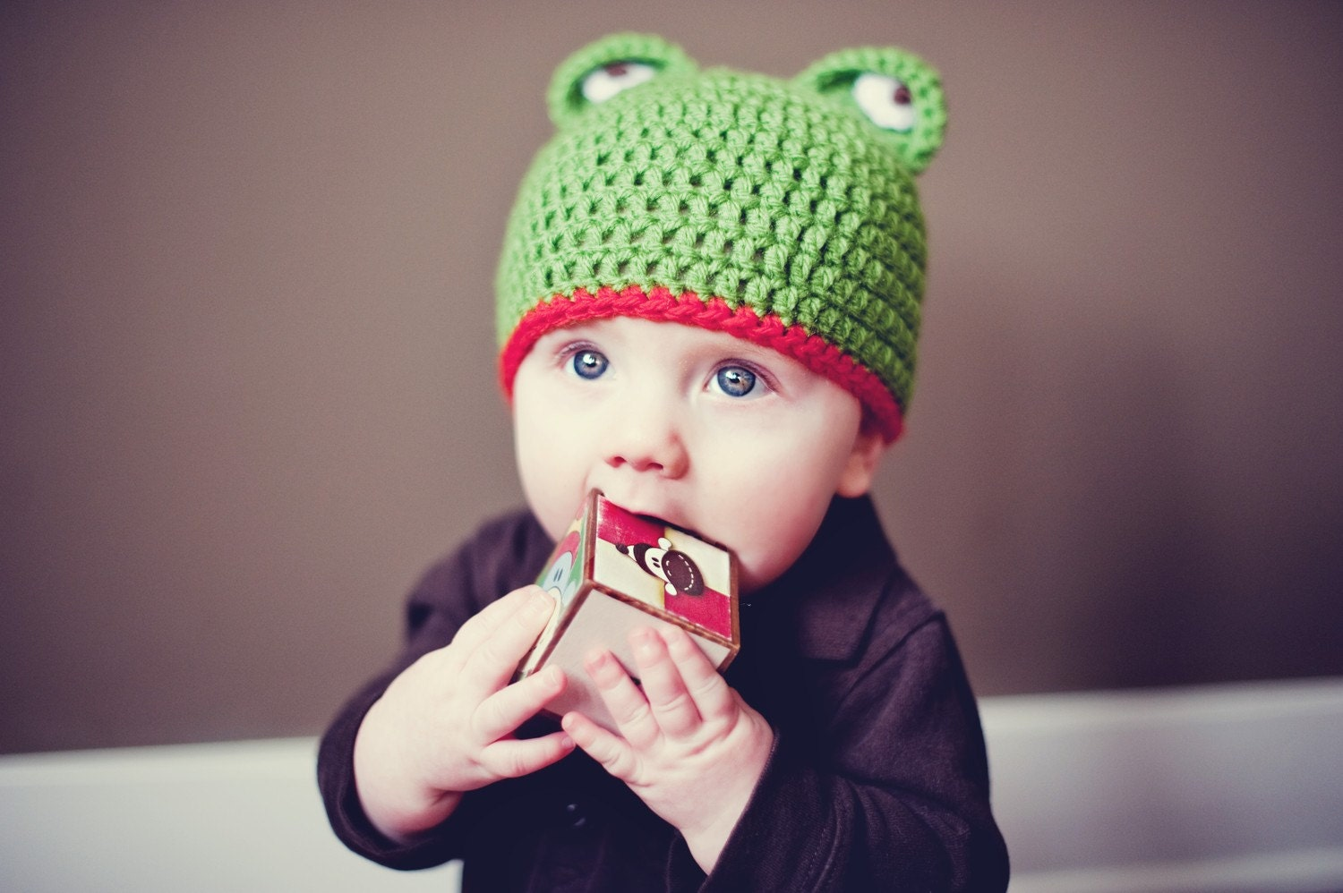 Free Crochet Pattern For Kermit The Frog Hat : Crochet PATTERN Frog Hat Instant download by littlepunky ...