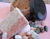 Ooooh Strawberry/Papaya Exfoliating handmade bar soap- 4.5 oz