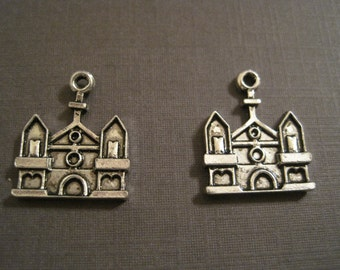 last Set of 15 antique silver cathedral charms