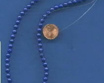 "16"" Strand of 6mm Mt. Jade Beads: Lapis"