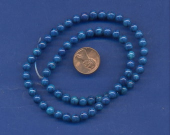 "16"" Strand 6mm Fossil Beads:  Blue"