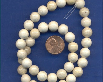 "16"" Strand 10mm Fossil Beads: Tan"