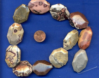 15 Inch Strand of Crazy Horse Stone Beads, 30mm-20mm, Lot 8