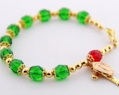 Custom Christmas Rosary Bracelet